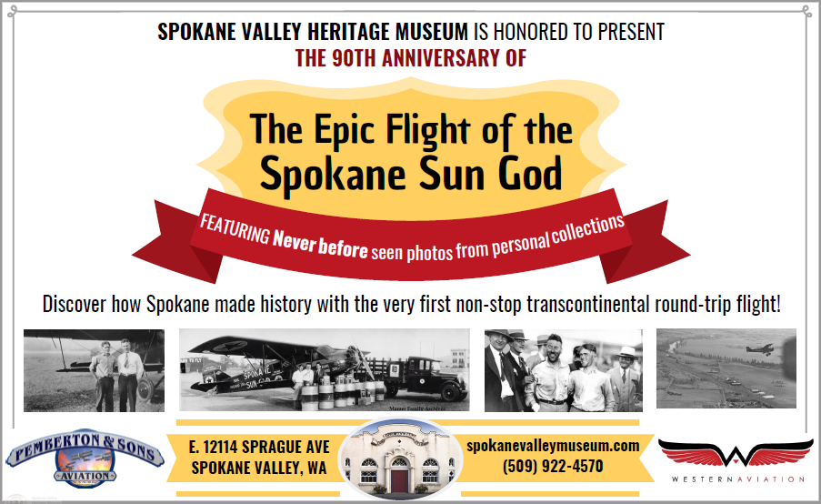 Spokane Sun God Exhibit Ad.