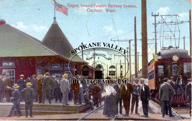 1913 painting Inland Empire Railway System, Garfield, Washington