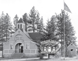 Chester School house black and white