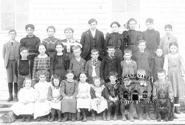"""1897 Students from Otis' """"Little White School on the Hill"""""""