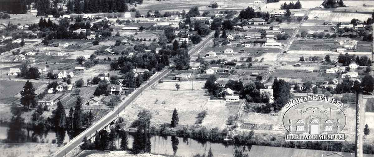 Aerial view of the Valley's first incorporated town